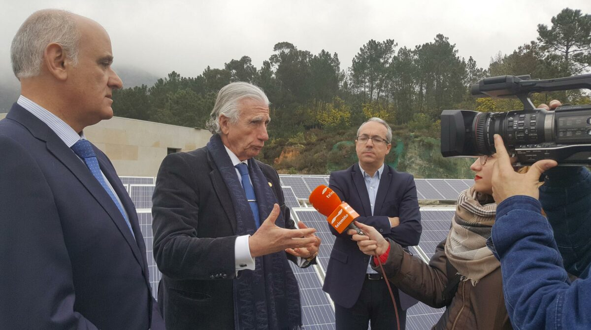 Voltfer instala en Laias Caldaria un parque fotovoltaico que permitirá reducir la dependencia energética del hotel balneario
